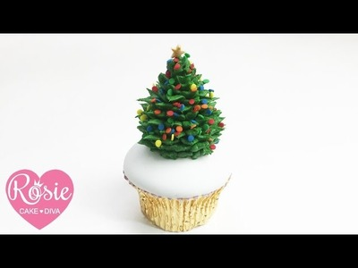 How to make a BUTTERCREAM CHRISTMAS TREE CUPCAKE