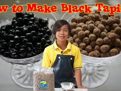 How to Make Black Tapioca for Bubble Tea
