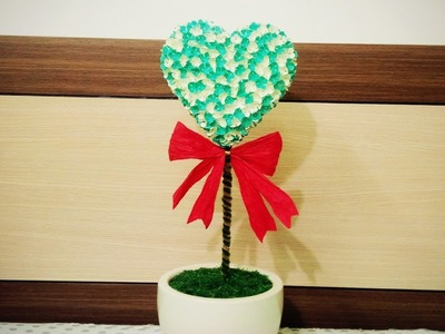 How To Make Heart Tree Paper Flower With Shape Punch - Craft Tutorial