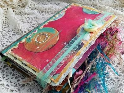 Junk Journal Glue Book Made With Scraps
