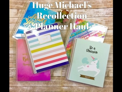 Michael's New 2017 Recollections Spiral Planners Haul + Review!