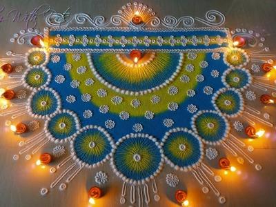 New Rangoli Desings With Colours for Festivals - Rangoli Competition Designs - Rangoli by Maya!