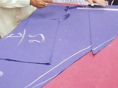 Simple Joint Salwar Cutting Method Pattern-How To Cut Salwar Kameej.Kameez