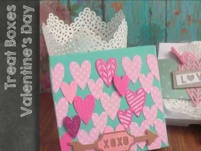 Sizzix - Big Shot  - Treat Box tutorial n.2 for Valentine's Day