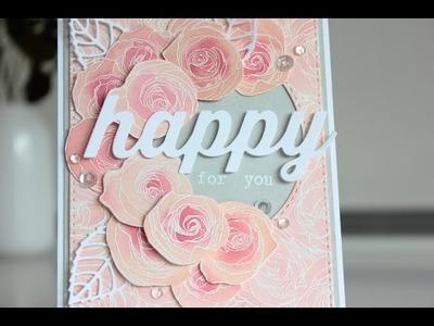 Wedding greeting card with Gansai Tambi watercolors