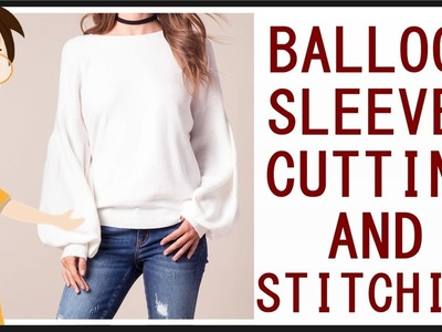 Balloon Sleeves Cutting And Stitching | DIY - Tailoring With Usha