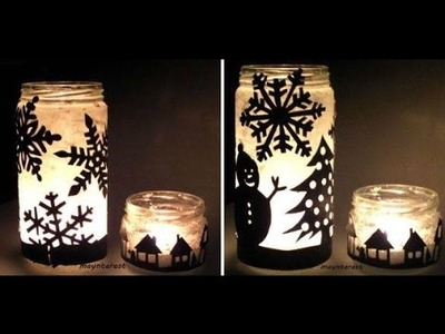 Christmas in a JAR - DIY Candle Holder  | Christmas decorations