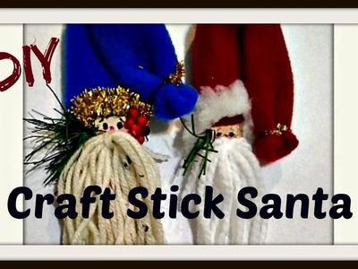 CRAFT STICK SANTA ORNAMENT, Gnome ornament,  easy diy Christmas decorations