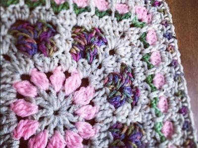 Crochet Blooming Garden Afghan Block 2 0