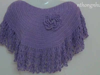 Crochet cape tutorial - Pattern 2 (engsub)