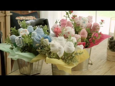 DIY Baby Onesie Floral Arrangement Tutorial