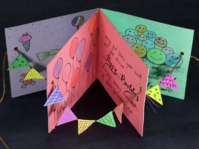 DIY Birthday Card - Handmade Happy Birthday Card Making Step by Step