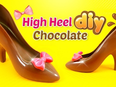 DIY CHOCOLATE HIGH HEEL SHOE! Milk Chocolate Shoe Recipe & JELLY TRAIN Easy Learn