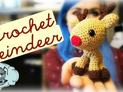 DIY Crochet Reindeer Amigurumi Christmas Rudolph How To! ¦ The Corner of Craft