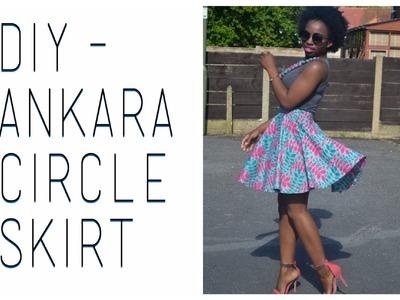 DIY || Mini Circle Skirt (Ankara)