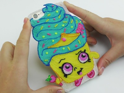 DIY Shopkins Princess Cupcake iPhone Case Drawing with 3D Pen DIY for Kids