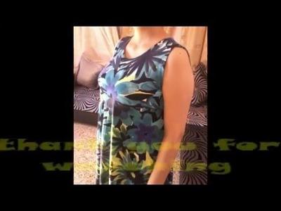 DIY: turn your skirt to a sleeveless shirt. jupe - marnière.كيف تحولين جيب الى قميص جميل
