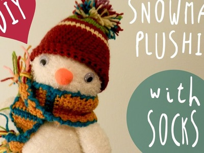 FROSTY the PLUSHIE snowman * DIY with SOCKS * By ART Tv