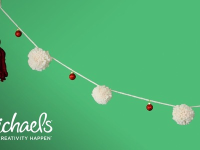 How to Make a Pom Pom Garland   DIY Holiday   Michaels