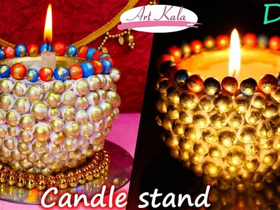 How to make candle holder. diya stand | cute and little | Artkala