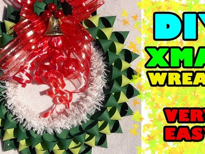 How to make Christmas wreath with paper | Paper Christmas Wreath