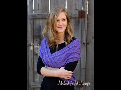 How to Wear Jennika {Scarf or Infinity Wrap Knit or Crochet Pattern}