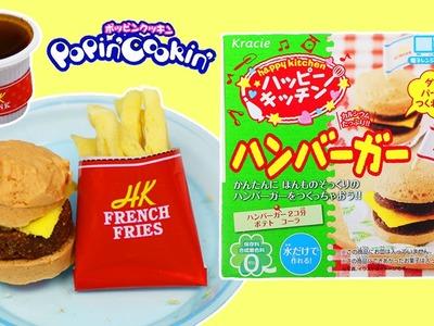 Kracie Popin' Cookin' Happy Kitchen Hamburger Fries & Cola Soda DIY Japanese Candy Making Kit!