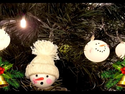 Ping pong ball snowman | DIY Christmas recycled decoration | HOW TO