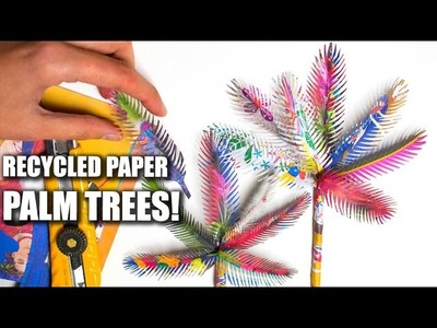 Recycled Paper Palm Trees. Easy Paper Art & Craft