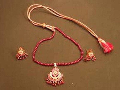 Ruby And Pearl Jewelry Collection