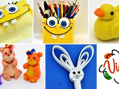 SpongeBob and More DIY Play Doh and Crafts Tutorials