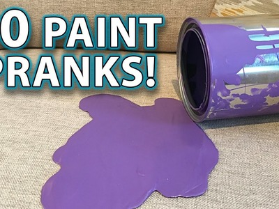 Top 10 PAINT PRANKS, DIY TRICKS & HACKS!