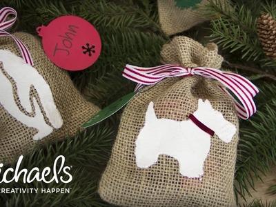 DIY | Decorative Burlap Gift Bag | Michaels