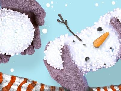 DIY FLUFFY SNOW SLIME!! - How to make SNOW slime ❄️