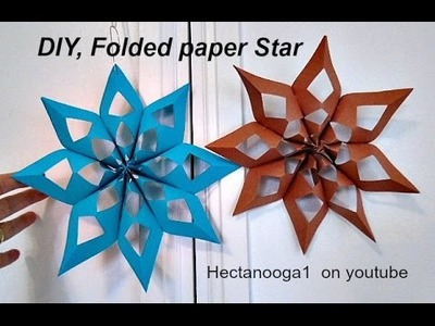 Diy -FOLD UP SNOWFLAKE OR STAR, FOLDABLE FOR STORAGE, Christmas ornament