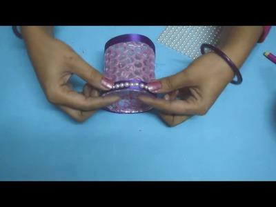 DIY | How to make Candle Holder | Christmas Decoration | Decorative Glass Candle Holder | Nidhi Jain