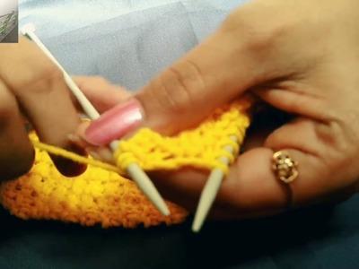 Easy Knitting Pattern For Beginners - Little Star Design , In Hindi.