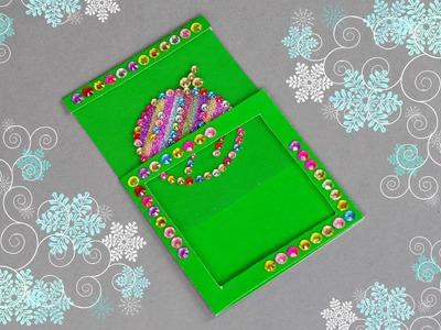 HANDMADE CHRISTMAS CARD. HOW TO MAKE CHRISTMAS CARD. DIY CARD.