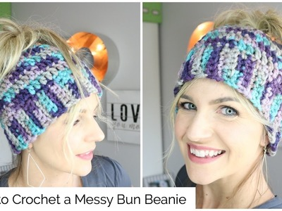 How to Crochet a Messy Bun Beanie