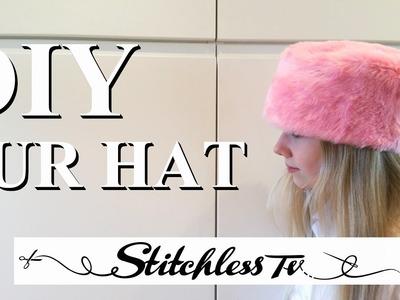 How to Cut & Sew Faux Fur DIY Hat