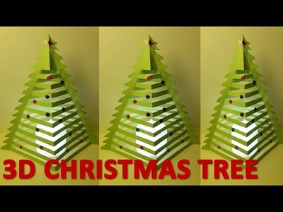How to make 3D Christmas trees | 3D Christmas tree with paper | 3D Paper Xmas Tree