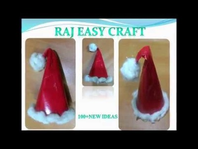 How To Make A Easy Paper Santa Hat