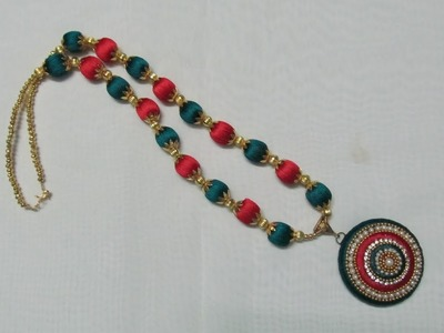 How to make a Necklace using Silk Thread at Home