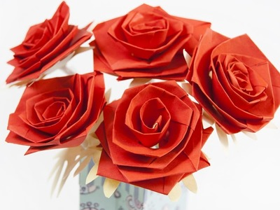 How to make a paper flower rose
