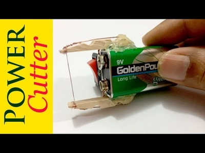 How to make a power plastic cutter with your homemade materials | Creative Channel
