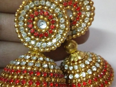 HOW TO MAKE BRIDAL JHUMKAS AT HOME STEP BY STEP COMPLETE TUTORIAL