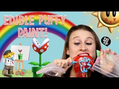 How To Make Edible Puffy Paint - Easy Safe Crafts For Kids!