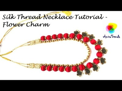 How to make silk thread necklace at home. Simple and easy tutorial
