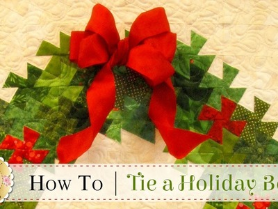 How to Tie a Christmas Bow | with Jennifer Bosworth of Shabby Fabrics