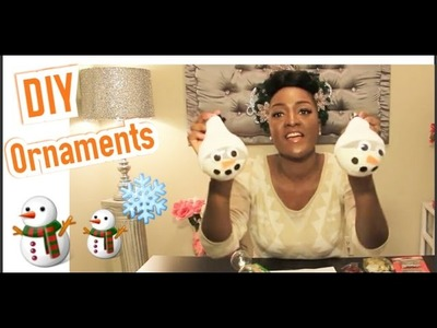DIY: EASY SNOWMAN ORNAMENTS | GLITTER ORNAMENTS | DOLLAR TREE | CRAFTS WITH KIDS